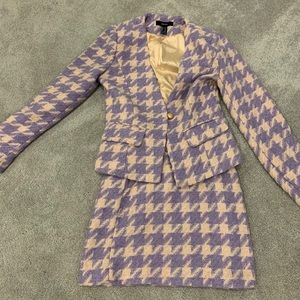 Forever 21 purple suit and skirt set